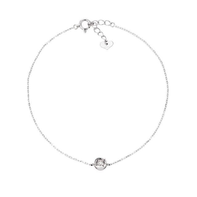 ダイヤモンド 1石 ブレスレット 0.1ct PT900 プラチナ