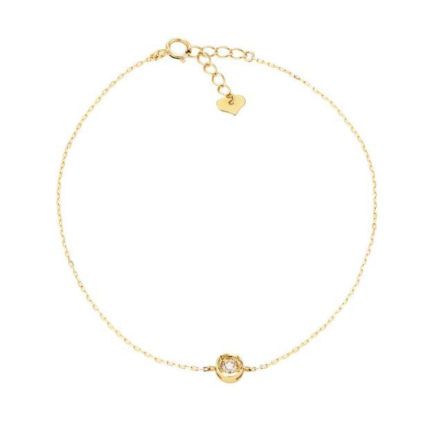ララクリスティー K18イエローゴールド ブレスレット ダイヤモンド