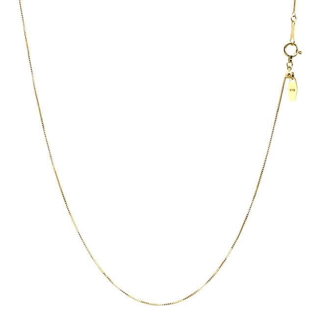 ララクリスティー ゴールド チェーン ネックレス 18金 K18 ベネチアン 幅 2.8mm 長さ 45cm lc97-0001