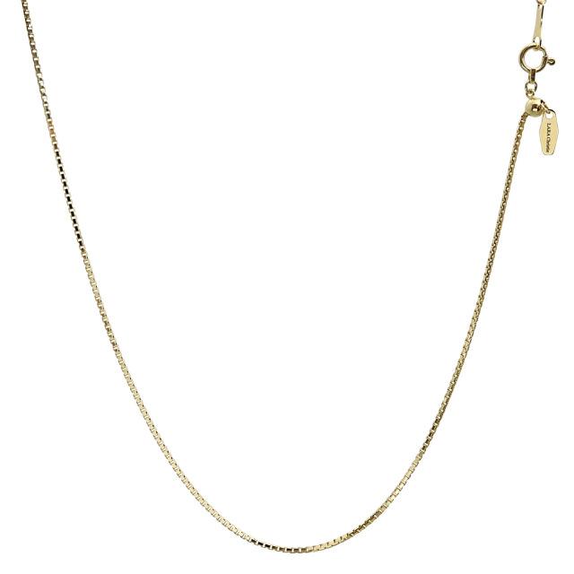 ララクリスティー ゴールド チェーン ネックレス 18金 K18 ベネチアン 幅 0.95mm 長さ 45cm lc97-0002