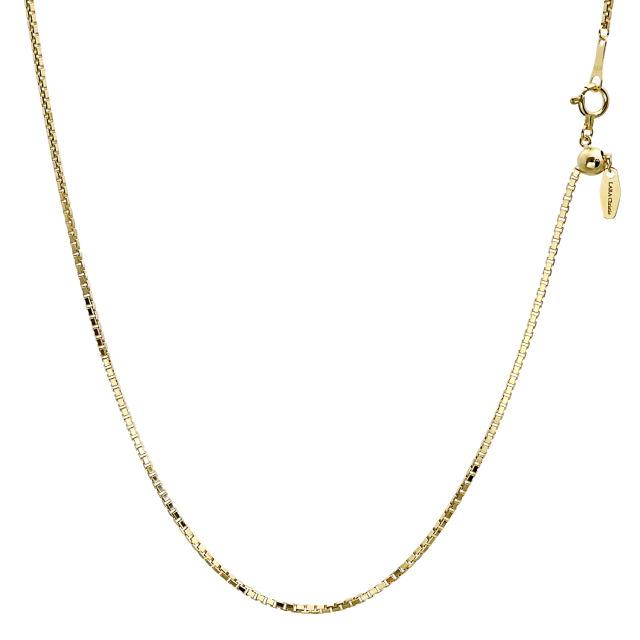 ララクリスティー ゴールド チェーン ネックレス 18金 K18 ベネチアン 幅 1.2mm 長さ 45cm lc97-0003