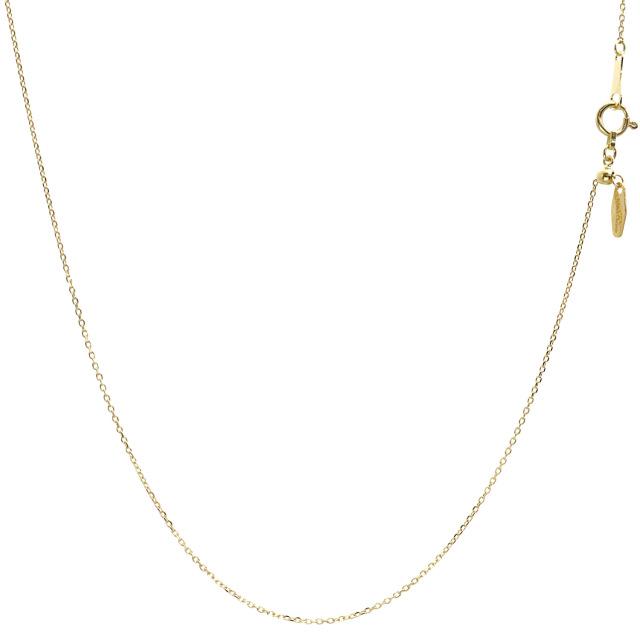 ララクリスティー ゴールド チェーン ネックレス 18金 K18 小豆 あずき アズキ 幅 0.8mm 長さ 45cm lc97-0005