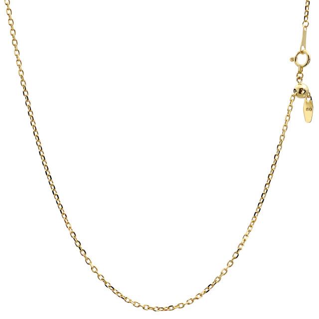 ララクリスティー ゴールド チェーン ネックレス 18金 K18 小豆 あずき アズキ 幅 1.5mm 長さ 45cm lc97-0006