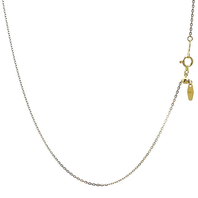 ララクリスティー ゴールド チェーン ネックレス 18金 K18 小豆 あずき アズキ ピアットカットバイカラー 幅 1.5mm 長さ 45cm lc97-0007