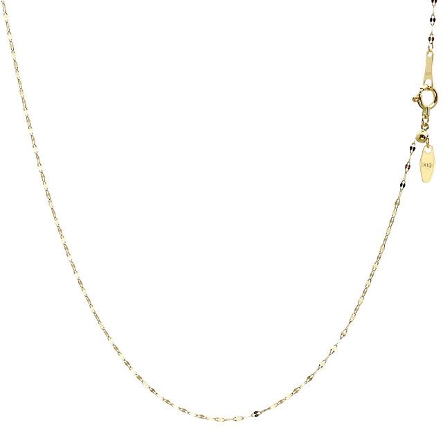 ララクリスティー ゴールド チェーン ネックレス 18金 K18 ペタル 幅 1.1mm 長さ 45cm lc97-0008