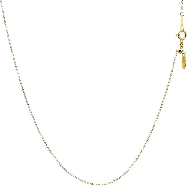 ララクリスティー ゴールド チェーン ネックレス 18金 K18 ペタル トビコマ5 幅 1.1mm 長さ 45cm lc97-0009