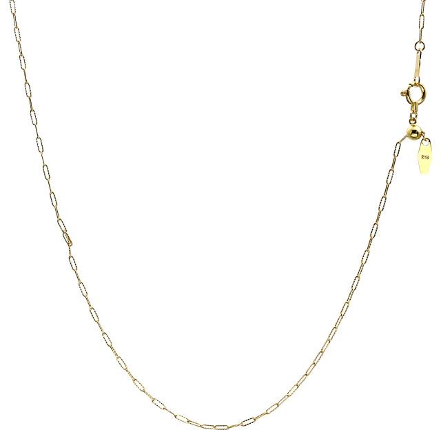 ララクリスティー ゴールド チェーン ネックレス 18金 K18 ファンタジアウェーブ 幅 1.2mm 長さ 45cm lc97-0010