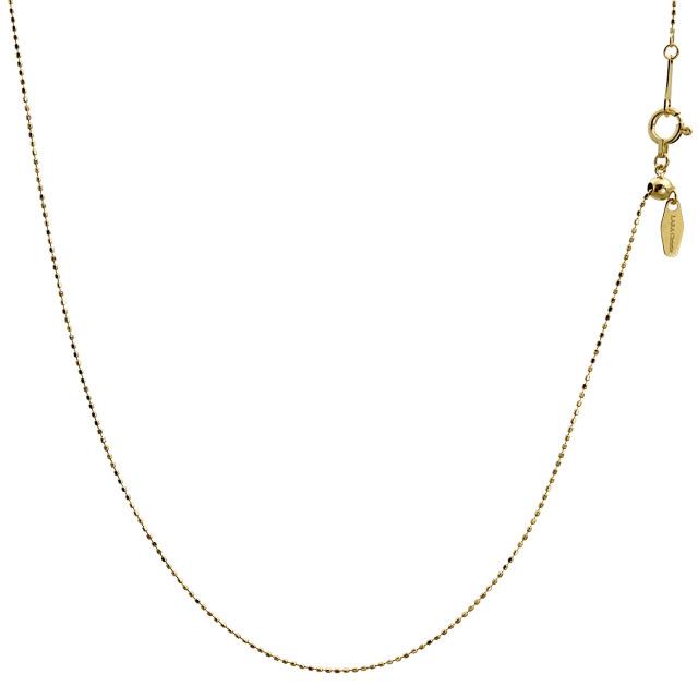ララクリスティー ゴールド チェーン ネックレス 18金 K18 ティアスカット 幅 0.7mm 長さ 45cm lc97-0011