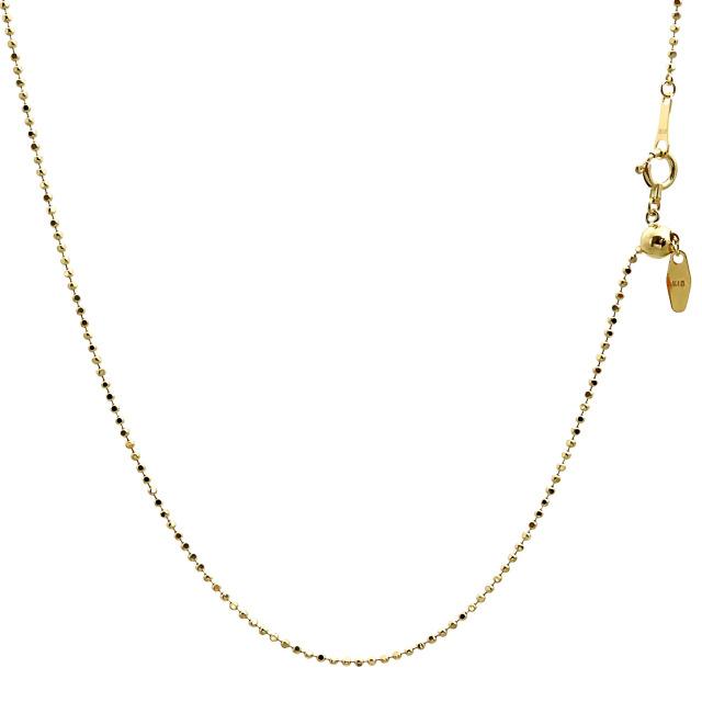 ララクリスティー ゴールド チェーン ネックレス 18金 K18 カットボール 幅 1.2mm 長さ 45cm lc97-0012