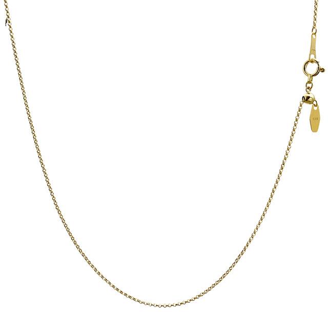 ララクリスティー ゴールド チェーン ネックレス 18金 K18 ロール 幅 1.0mm 長さ 45cm lc97-0013