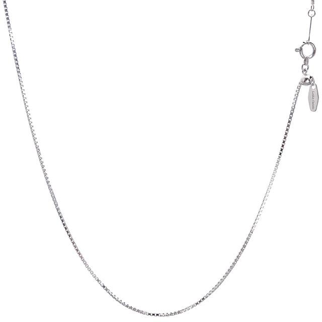 ララクリスティー プラチナ チェーン ネックレス Pt850 ベネチアン 幅 0.85mm 長さ 45cm lc97-0017