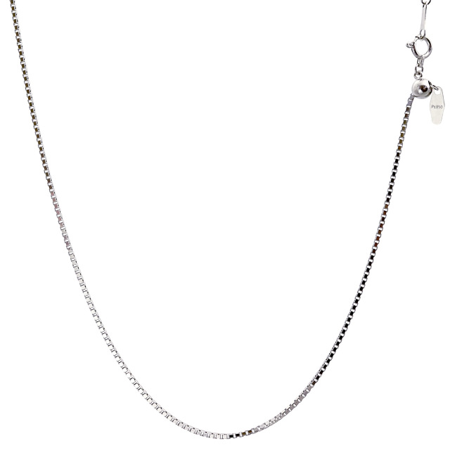 ララクリスティー プラチナ チェーン ネックレス Pt850 ベネチアン 幅 1.1mm 長さ 45cm lc97-0018