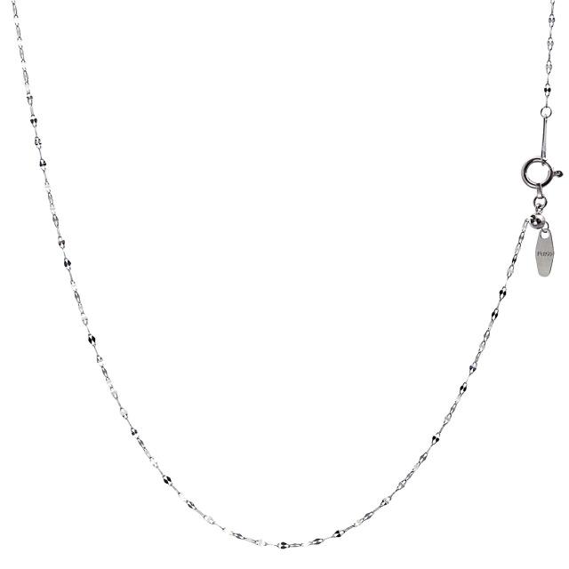 ララクリスティー プラチナ チェーン ネックレス Pt850 ペタル 幅 1.1mm 長さ 45cm lc97-0019
