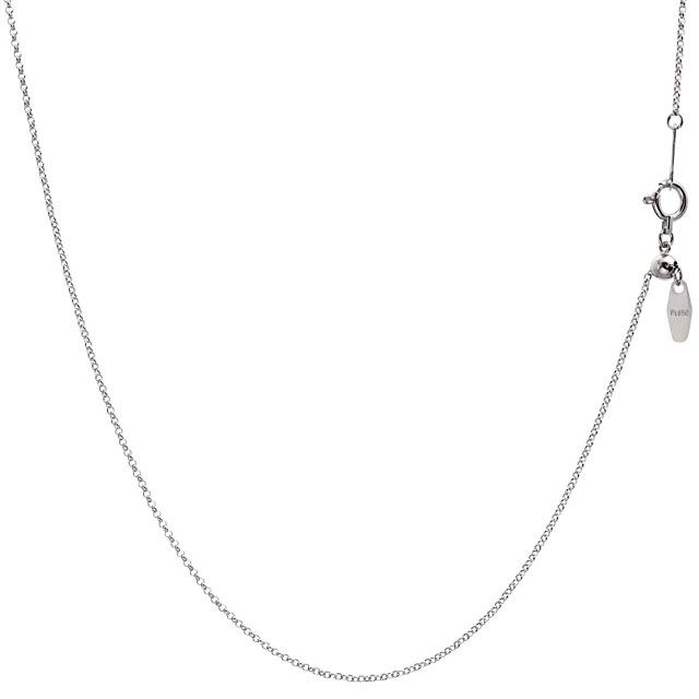 ララクリスティー プラチナ チェーン ネックレス Pt850 ロール 幅 1.0mm 長さ 45cm lc97-0021