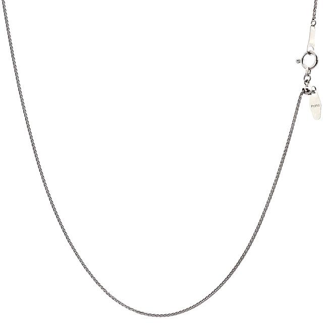 ララクリスティー プラチナ チェーン ネックレス Pt850 トリプルスパイク 幅 0.7mm 長さ 45cm lc97-0022