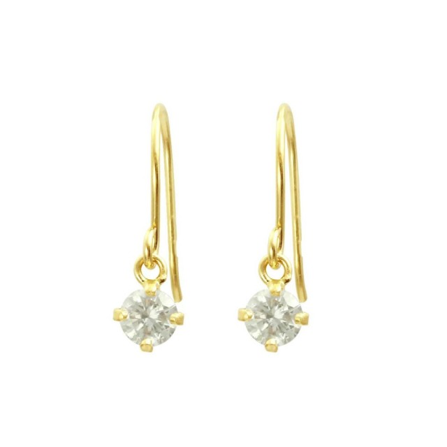 ピアスレディースK18ダイヤモンドフックピアスララクリスティーorderHighjewelry
