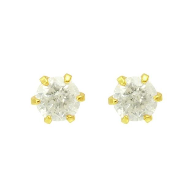 ピアスレディースK18ダイヤモンド6本爪スタッドピアスララクリスティーorderHighjewelry
