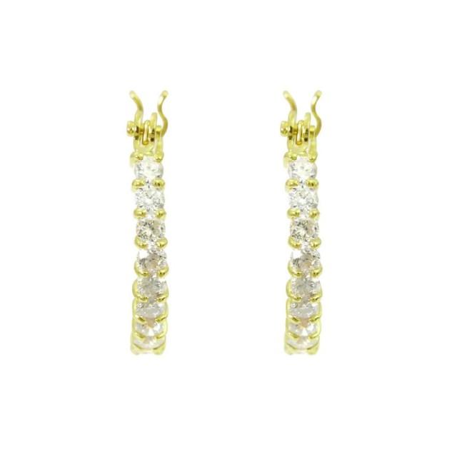 ピアスレディースK18ダイヤモンドフープピアスララクリスティーorderHighjewelry