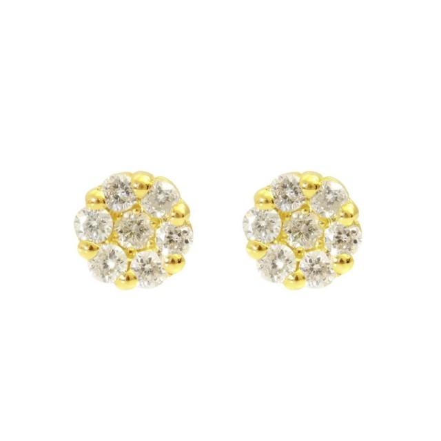 ピアスレディースK18ダイヤモンドフラワーピアスララクリスティーorderHighjewelry