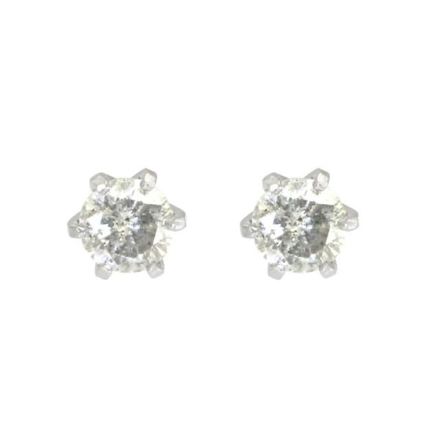 ピアスレディースPT900ダイヤモンド6本爪スタッドピアスララクリスティーorderHighjewelry