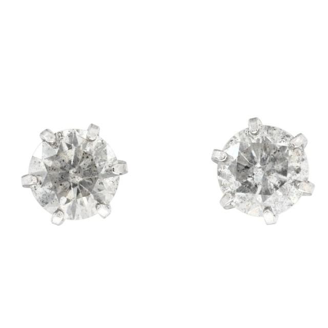 ピアスレディースPT900プラチナダイヤモンド0.6ct6本爪ララクリスティーorderHighjewelry