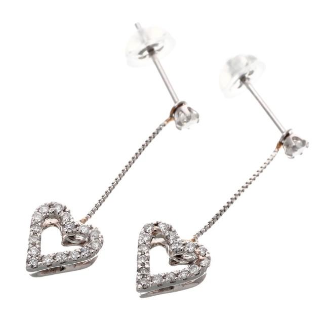 ピアスレディースPT900ダイヤモンド0.1ctララクリスティーorderHighjewelry