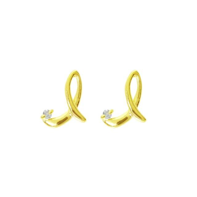 ピアスレディースK18ダイヤモンドイニシャルIララクリスティーorderHighjewelry