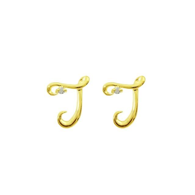 ピアスレディースK18ダイヤモンドイニシャルTララクリスティーorderHighjewelry