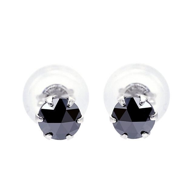 ピアス ブラックダイヤモンド 1粒 計0.3ct プラチナ PT900