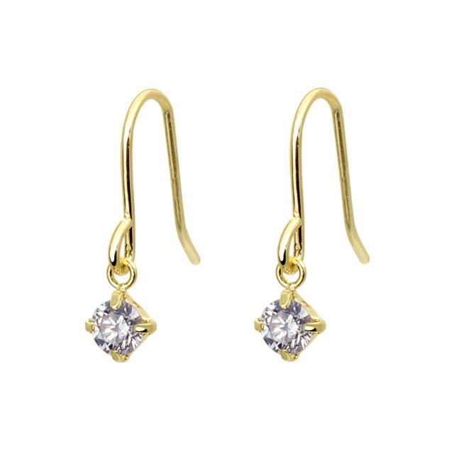 ダイヤモンド フックピアス 計0.2ct K18 イエローゴールド