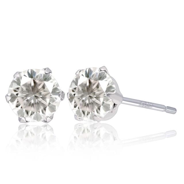 ダイヤモンド 1.0ct ピアス 1.0ct 2石