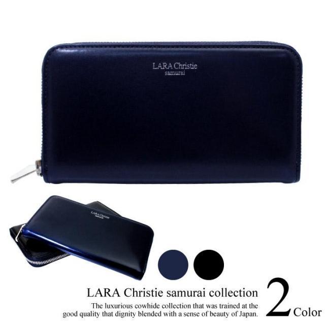 LARA Christie (ララクリスティー) samurai ラウンド ジップ スリム ロングウォレット 長財布 ll74-0006