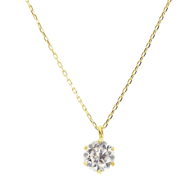 ダイヤモンド ネックレス ソリティア 0.3ct 1粒 ゴールド K18YG