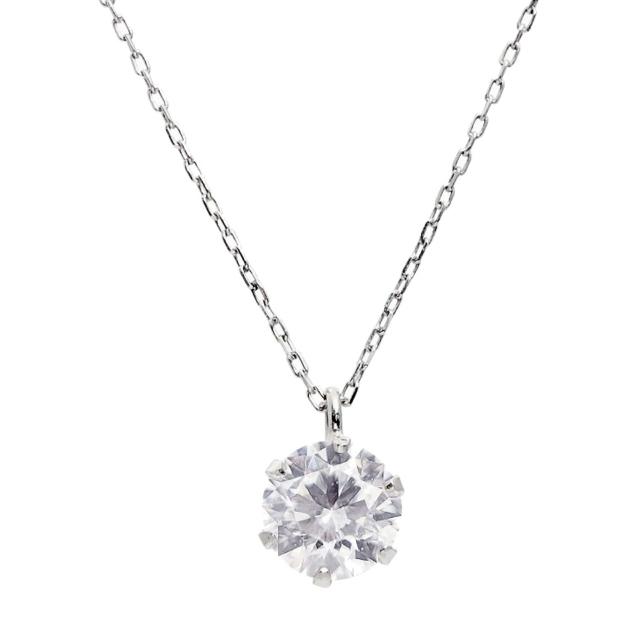 ダイヤモンド  ネックレス 0.5ct 1粒 プラチナ Pt900 ララクリスティー