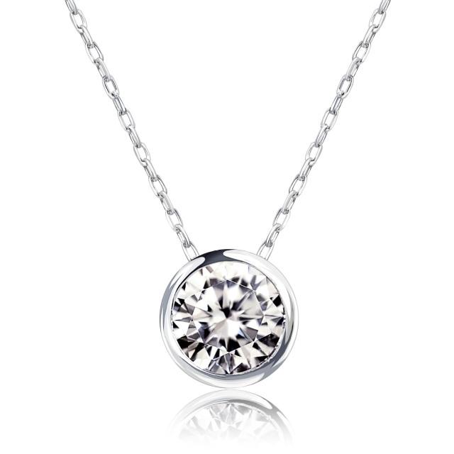 1粒 ダイヤモンド 0.3ct フクリン ネックレス