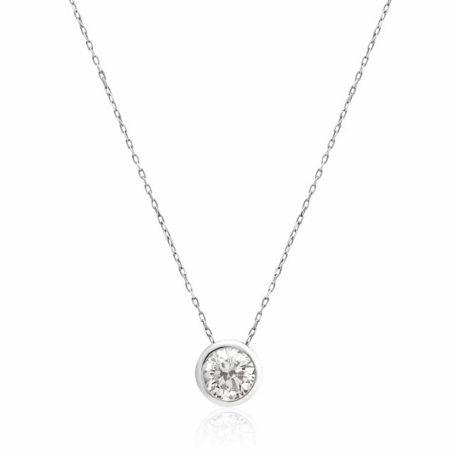 1粒 ダイヤモンド 0.5ct フクリン ネックレス