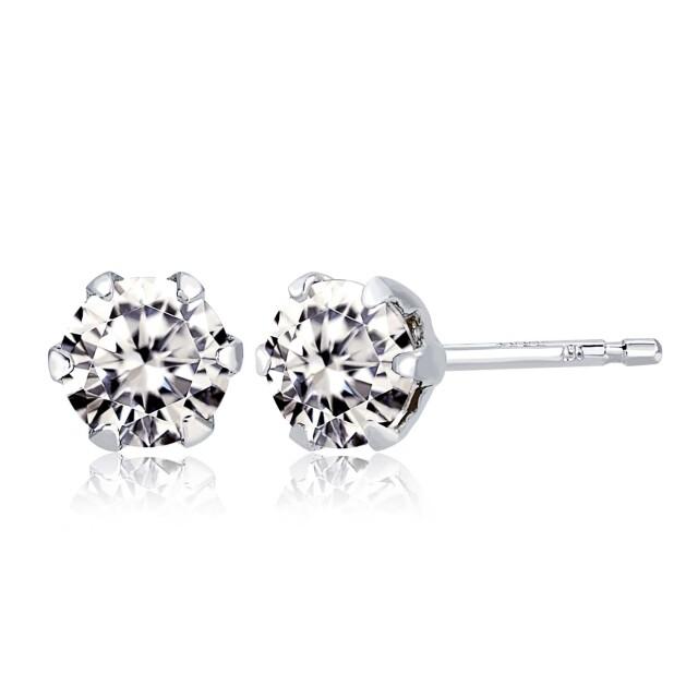 1粒ダイヤモンド0.3ctピアスプラチナPt900の商品画像