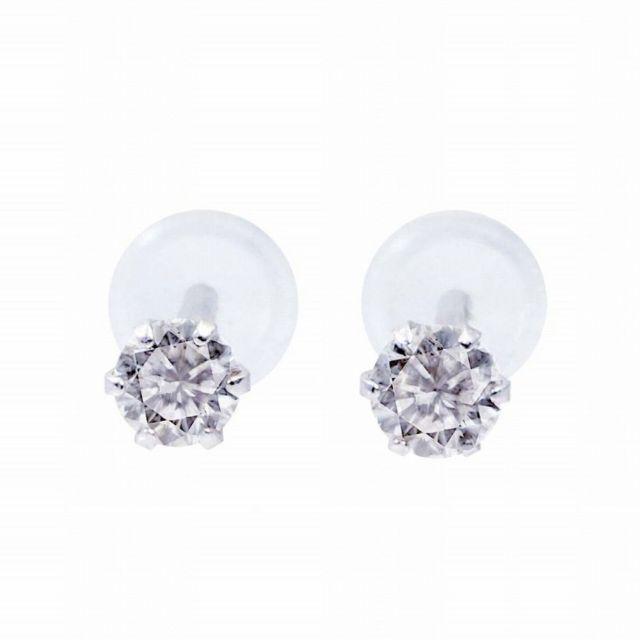 ダイヤモンド ピアス 0.1ct 1粒 プラチナ Pt900の正面