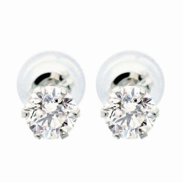 ダイヤモンド ピアス 0.5ct 1粒 プラチナ PT900