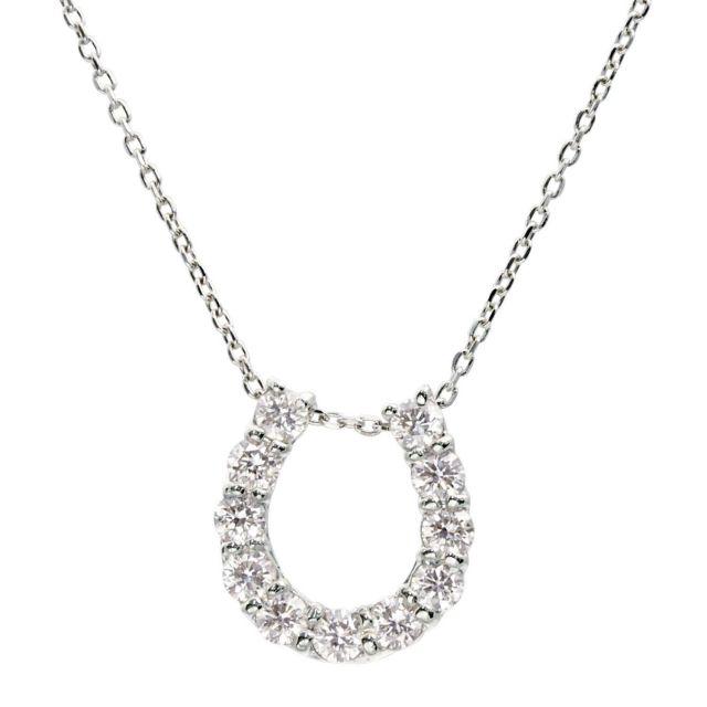 ダイヤモンド ホースシュー ネックレス 11石 0.5ct PT900 プラチナ