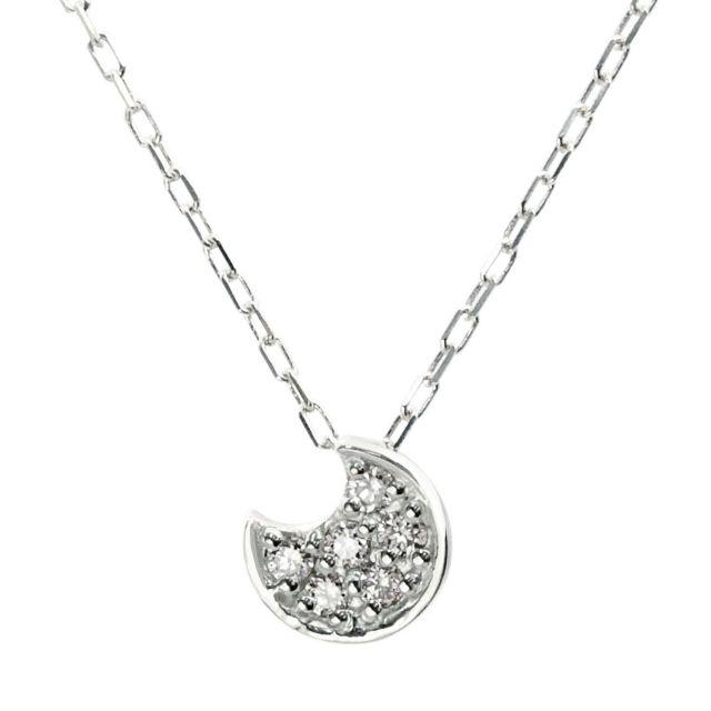 ダイヤモンド ムーン ネックレス 0.06ct PT900 プラチナ