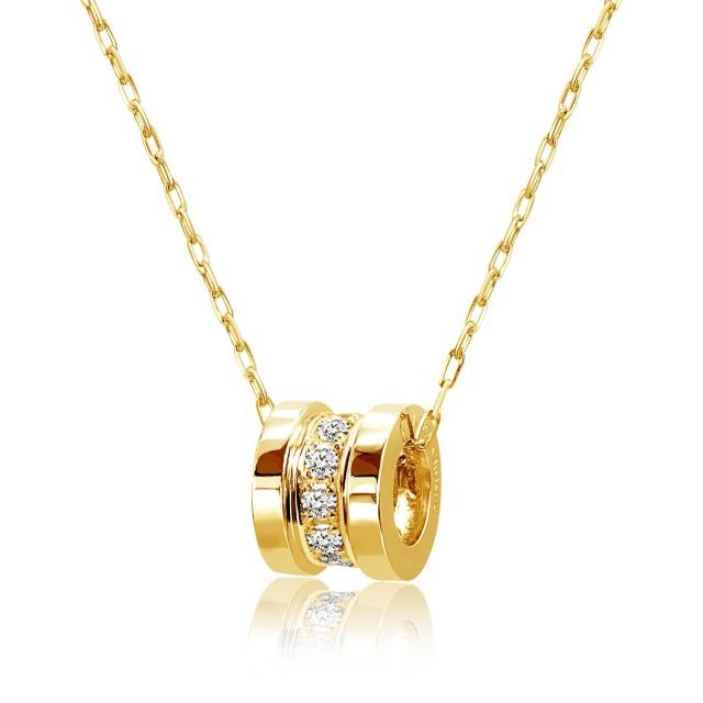 ララクリスティー K18イエローゴールド エタニティ ネックレス ダイヤモンド