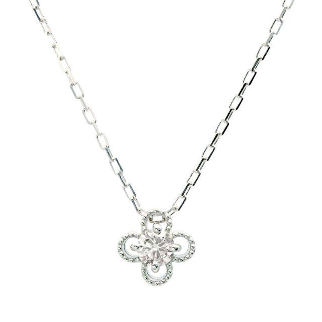 プラチナ ダイヤモンド ネックレス 0.1ct PT900 プラチナ lp71-0021-pt ララクリスティー