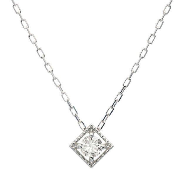 プラチナ  ダイヤモンド ネックレス 0.1ct PT900 プラチナ lp71-0022-pt ララクリスティー