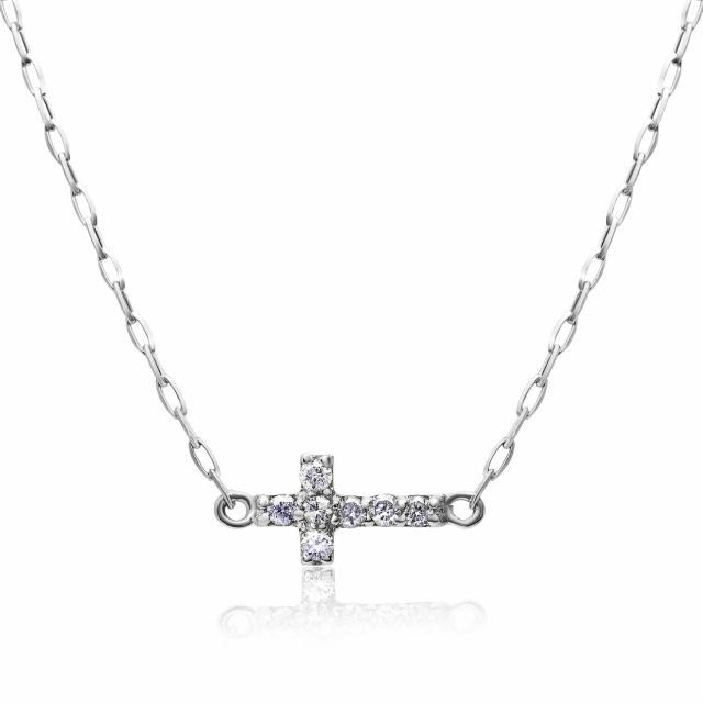 ダイヤモンド クロス ネックレス 2way 天然ダイヤ 0.05ct プラチナ PT900 lp71-0024-pt