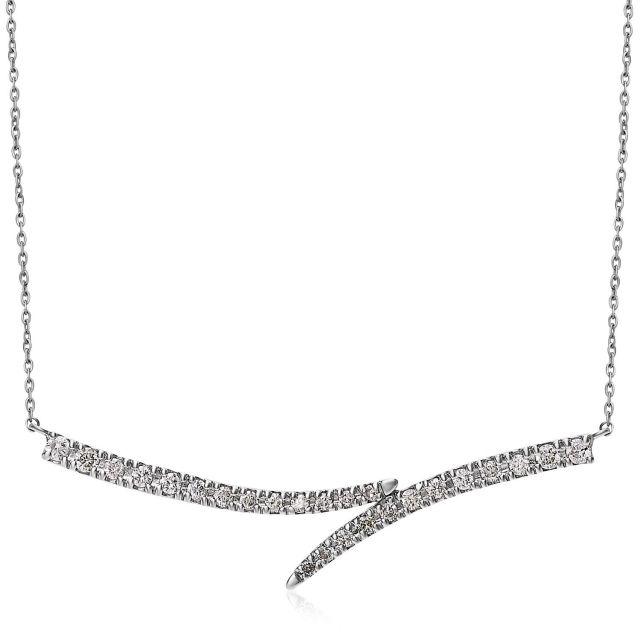 ダイヤモンドネックレス Pt900 プラチナライン ダイヤ 0.2ct  lpi51-0009-pt