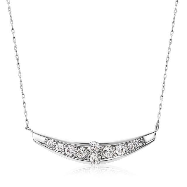 ダイヤモンドネックレス Pt900 プラチナデザイン ダイヤ 0.2ct  lpi51-0016-pt