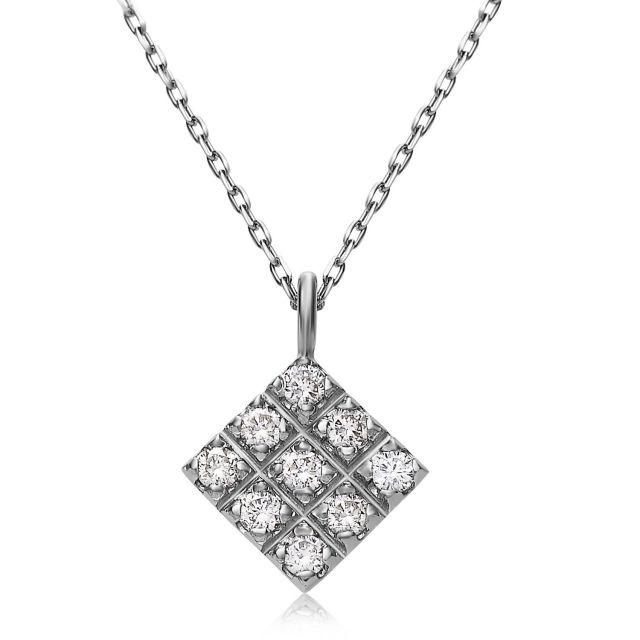 ダイヤモンドネックレス Pt900 プラチナデザイン ダイヤ 0.1ct  lpi51-0017-pt