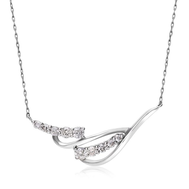 ダイヤモンドネックレス Pt900 プラチナデザイン ダイヤ 0.2ct  lpi51-0018-pt