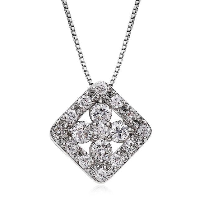 ダイヤモンドネックレス Pt900 プラチナデザイン ダイヤ 0.3ct  lpi51-0022-pt